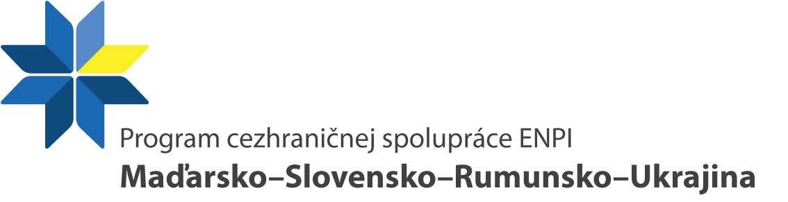 Logo Program cezhraničnej spolupráce Maďarsko - Slovensko - Rumunsko - Ukrajina